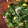 Charred Spring Onion, Kale and Shaved Asparagus Salad