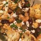 Olive Roasted Cauliflower with Feta