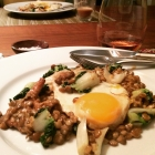 French Lentils with Cream, Mushrooms and Greens